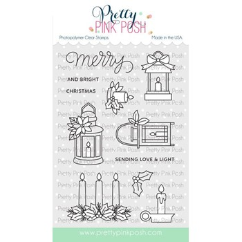 Pretty Pink Posh CHRISTMAS CANDLES Clear Stamps
