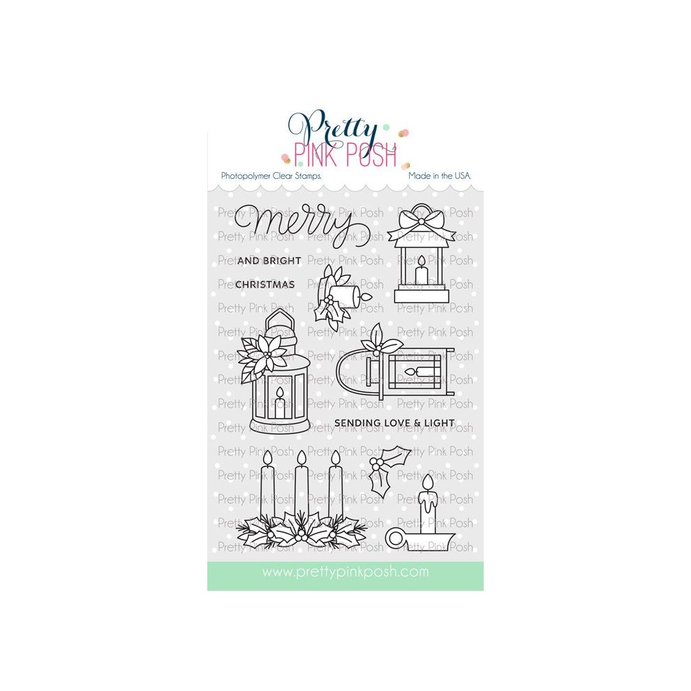 Pretty Pink Posh CHRISTMAS CANDLES Clear Stamps zoom image