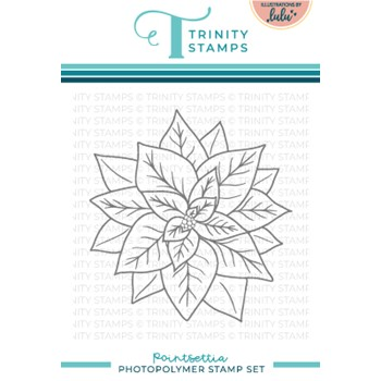 Trinity Stamps POINSETTIA Clear Stamp Set tps155