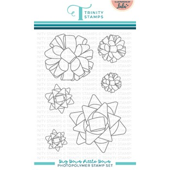 Trinity Stamps BIG BOWS LITTLE BOWS Clear Stamp Set tps156