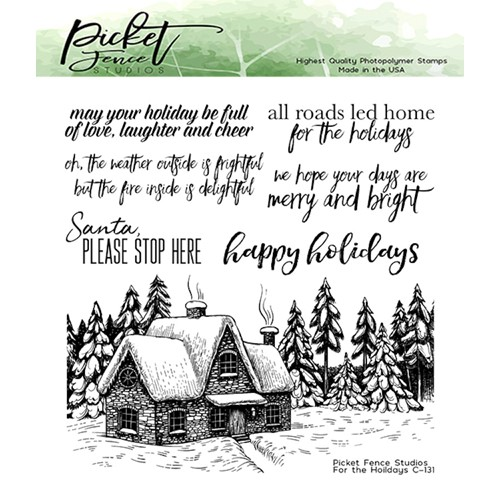 Picket Fence Studios FOR THE HOLIDAYS Clear Stamps c131 Preview Image