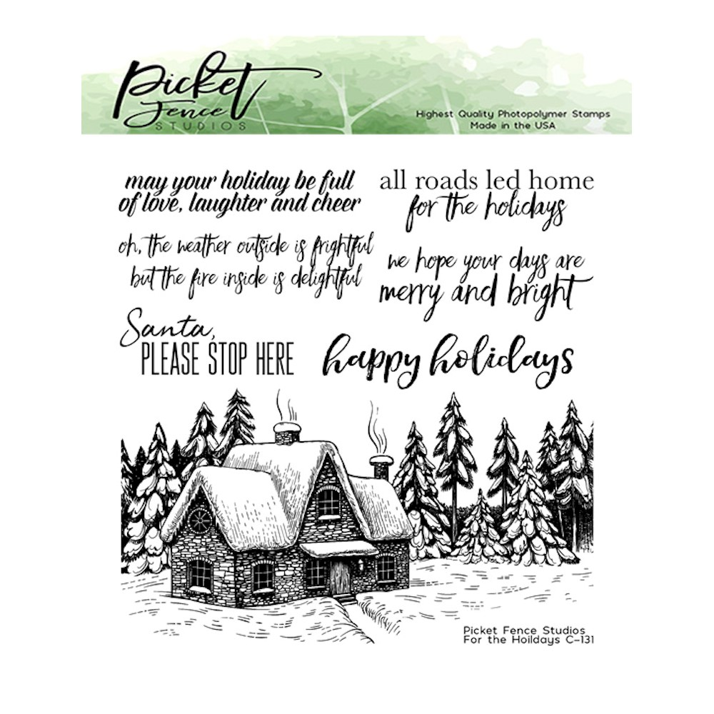 Picket Fence Studios FOR THE HOLIDAYS Clear Stamps c131 zoom image