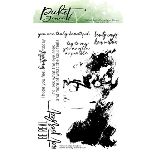 Picket Fence Studios ICONIC BEAUTY SARA Clear Stamps ib100 Preview Image
