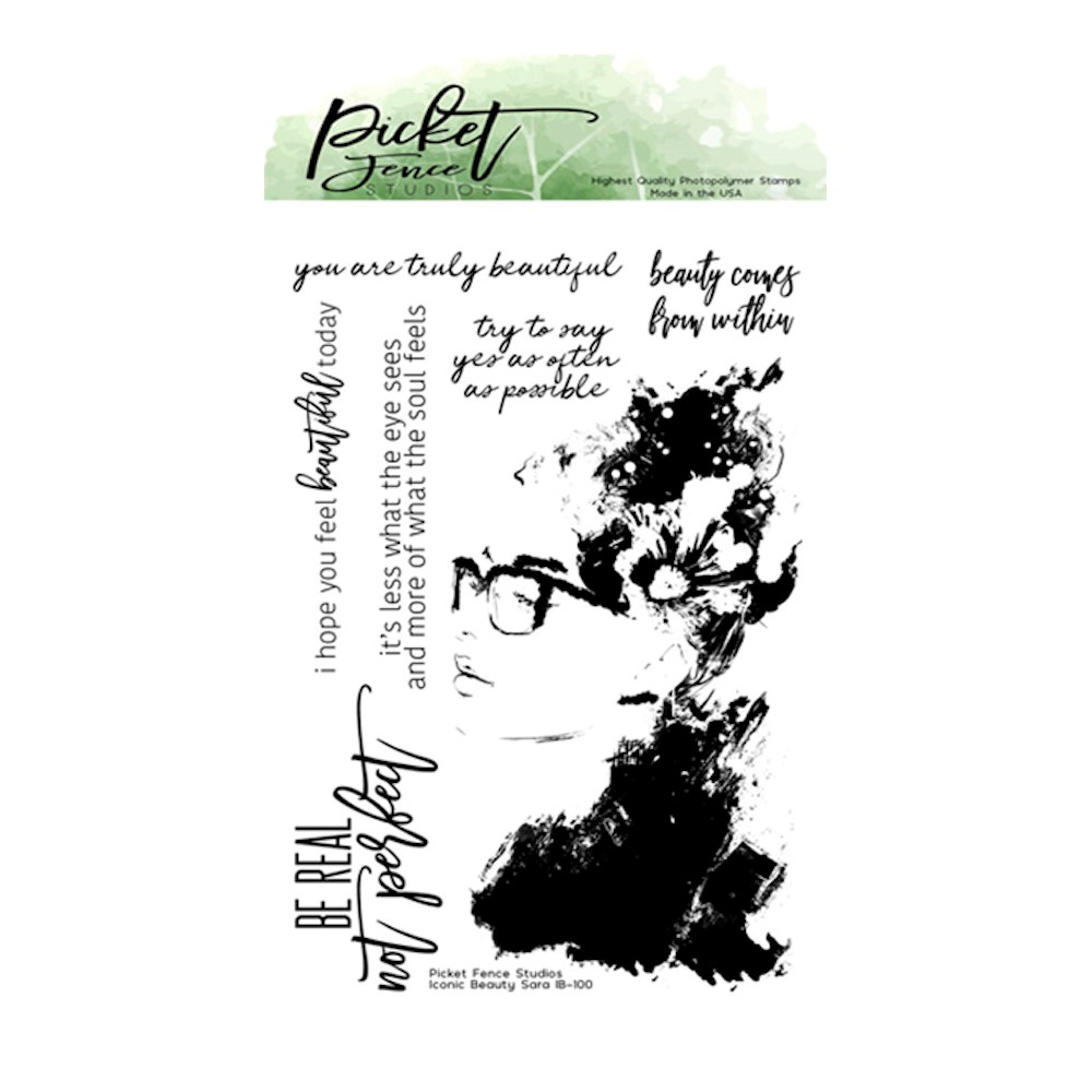 Picket Fence Studios ICONIC BEAUTY SARA Clear Stamps ib100 zoom image