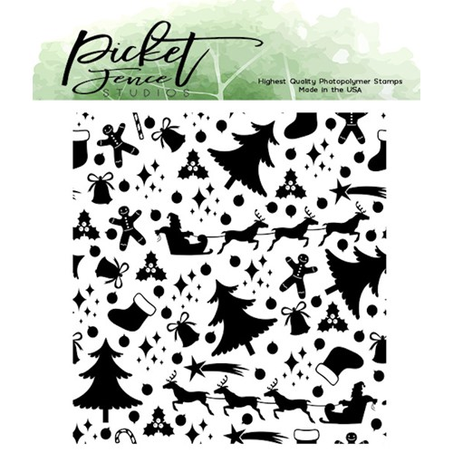 Picket Fence Studios HAPPY HOLIDAYS MENAGERIE Clear Stamp c122 Preview Image