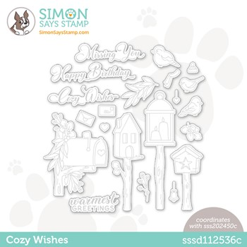 RESERVE Simon Says Stamp COZY WISHES Wafer Dies sssd112536c