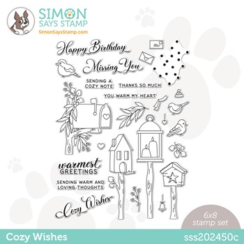 Simon Says Clear Stamps COZY WISHES sss202450c