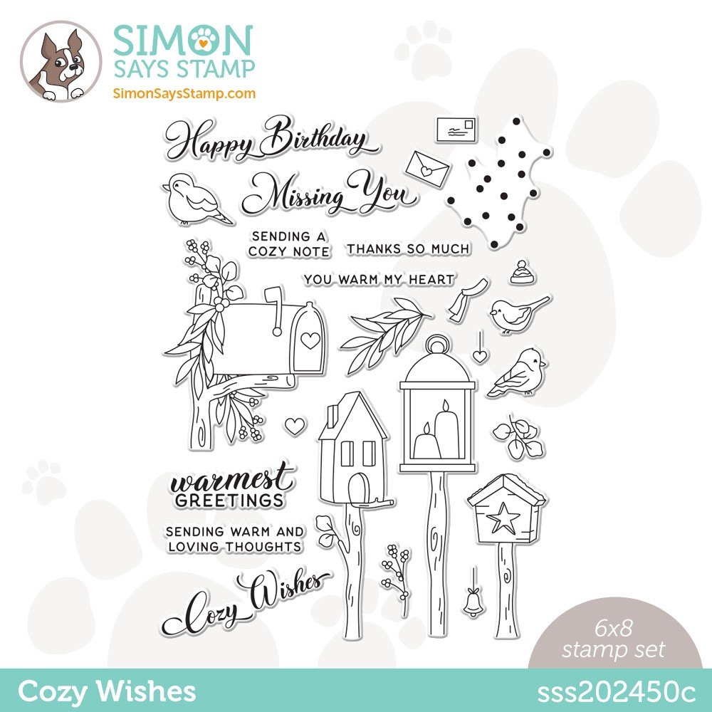 Simon Says Clear Stamps COZY WISHES sss202450c zoom image