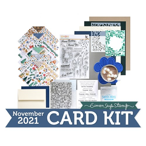 Simon Says Stamp Card Kit of the Month November 2021 COZY WISHES ck1121 Preview Image