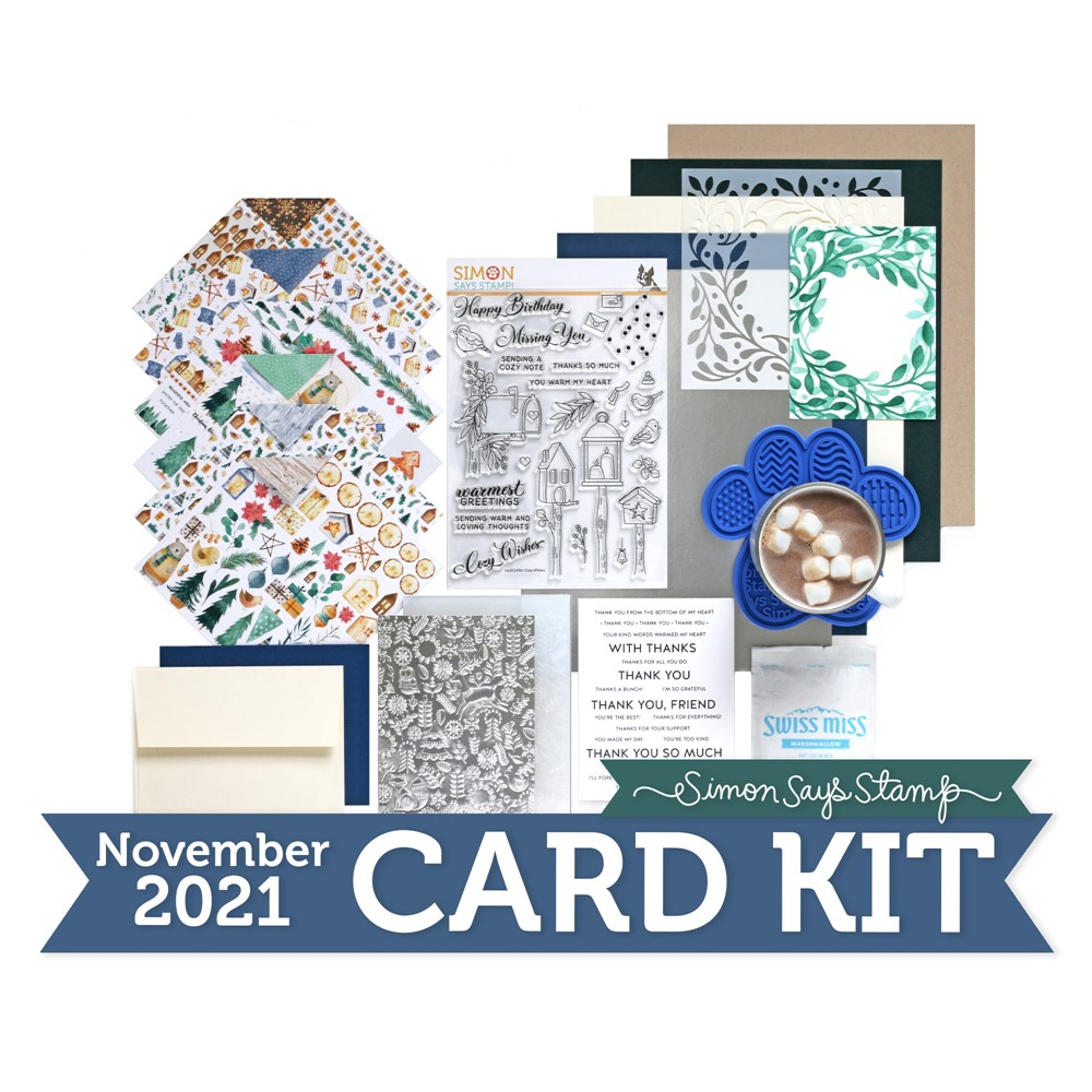Simon Says Stamp Card Kit of the Month November 2021 COZY WISHES ck1121 zoom image