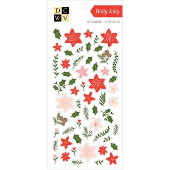 DCWV HOLLY JOLLY Sticker Pack 34007755