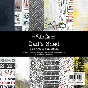 Paper Rose DAD'S SHED 6x6 Paper Pad 24019