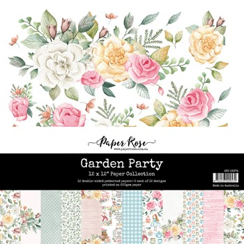 Paper Rose GARDEN PARTY 12x12 Paper Pad 23974