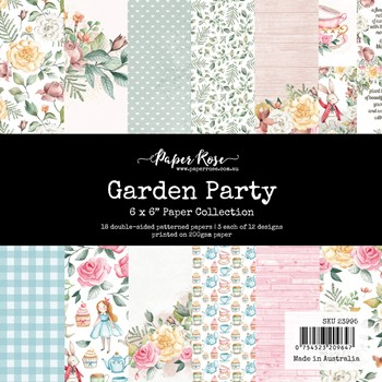 Paper Rose GARDEN PARTY 6x6 Paper Pad 23995