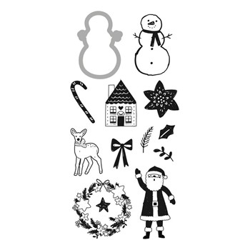 DCWV HOLLY JOLLY Clear Stamp and Die Set 34007763