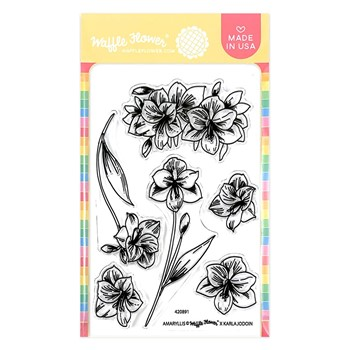 Waffle Flower AMARYLLIS Clear Stamps 420891