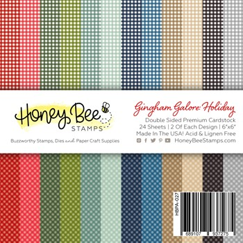 Honey Bee GINGHAM GALORE HOLIDAY 6 x 6 Paper Pad hbpa027