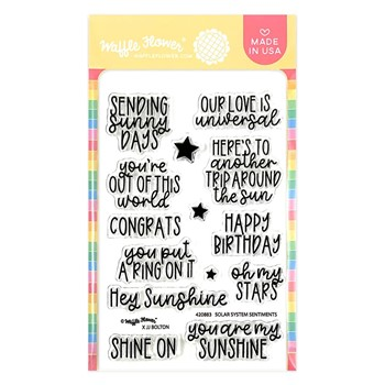 Waffle Flower SOLAR SYSTEM SENTIMENTS Clear Stamps 420883