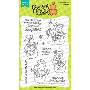 Newton's Nook Designs SNOW MUCH CHEER Clear Stamps NN2110S08