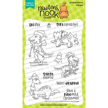 Newton's Nook Designs PREHISTORIC CHRISTMAS Clear Stamps NN2110S07