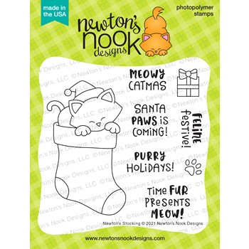 Newton's Nook Designs NEWTON'S STOCKING Clear Stamps NN2110S04