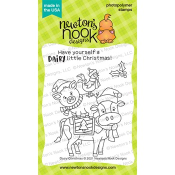 Newton's Nook Designs DAIRY CHRISTMAS Clear Stamps NN2110S03
