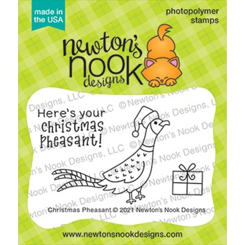 Newton's Nook Designs CHRISTMAS PHEASANT Clear Stamps NN2110S01