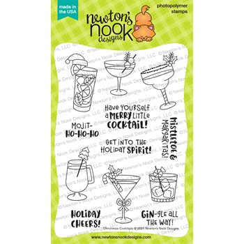 Newton's Nook Designs CHRISTMAS COCKTAILS Clear Stamps NN2110S05
