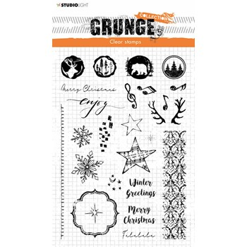 Studio Light WINTER AND CHRISTMAS EXTRAS Grunge Clear Stamp slgrstamp106