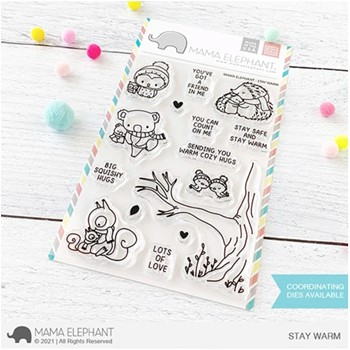 Mama Elephant Clear Stamps STAY WARM