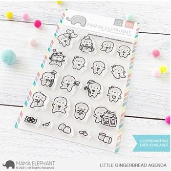 Mama Elephant Clear Stamps LITTLE GINGERBREAD AGENDA