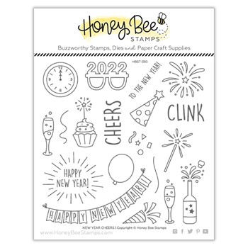 Honey Bee NEW YEAR CHEERS Clear Stamp Set hbst395