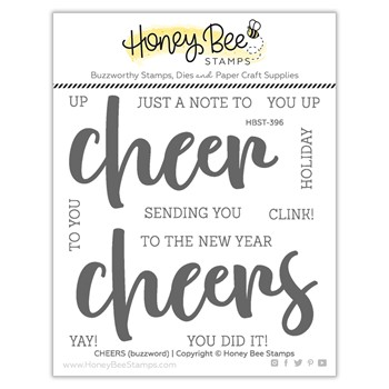Honey Bee CHEERS Clear Stamp Set hbst396