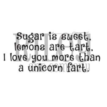 Riley And Company Funny Bones UNICORN FART Cling Rubber Stamp RWD-961