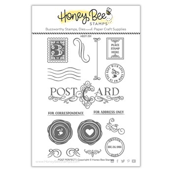 Honey Bee POST PERFECT Clear Stamp Set hbst391