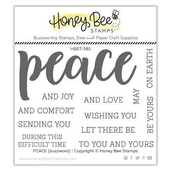 Honey Bee PEACE Clear Stamp Set hbst385