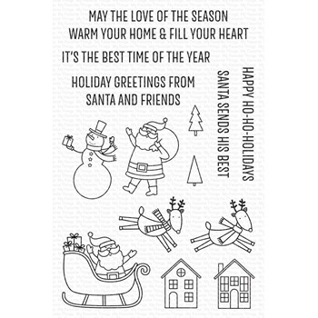 My Favorite Things HAPPY HO-HO HOLIDAYS Clear Stamps cs613