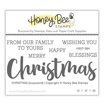 Honey Bee CHRISTMAS Clear Stamp Set hbst384
