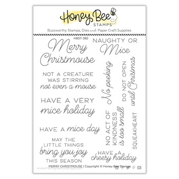 Honey Bee MERRY CHRISTMOUSE Clear Stamp Set hbst382