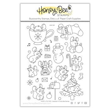 Honey Bee MERRY LITTLE MICE Clear Stamp Set hbst381