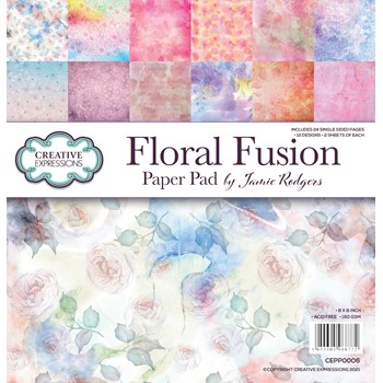 Creative Expressions FLORAL FUSION 8 x 8 Paper Pad cepp0006