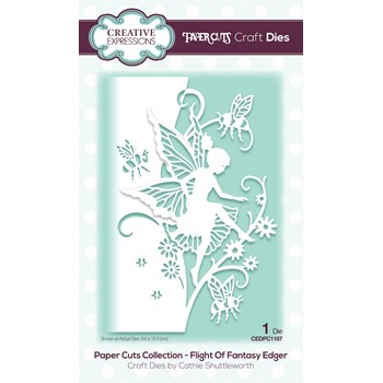 Creative Expressions FLIGHT OF FANTASY EDGER Paper Cuts Die cedpc1187