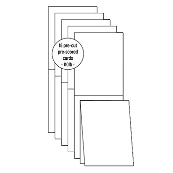Pink and Main A2 TOP FOLD CARD BASES PMP067