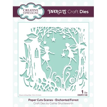Creative Expressions ENCHANTED FOREST Paper Cuts Scene Die cedpc1189