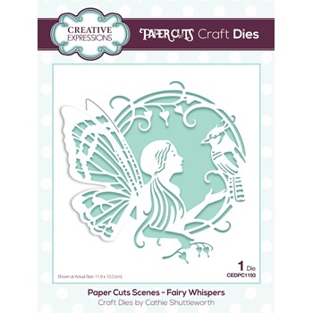 Creative Expressions FAIRY WHISPERS Paper Cuts Scene Die cedpc1193