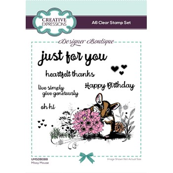Creative Expressions MISSY MOUSE Woodland Walk Clear Stamps umsdb088