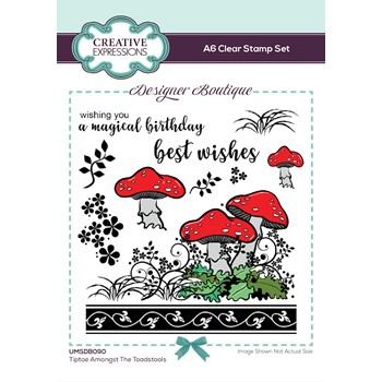 Creative Expressions TIPTOE AMONGST THE TOADSTOOLS Woodland Walk Clear Stamps umsdb090