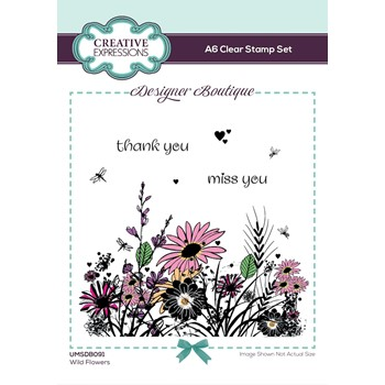 Creative Expressions WILD FLOWERS Woodland Walk Clear Stamps umsdb091