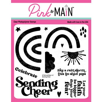 Pink and Main SENDING CHEER Clear Stamps PM0507
