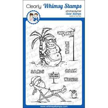 Whimsy Stamps CALM CHRISTMAS Clear Stamps CWSD393